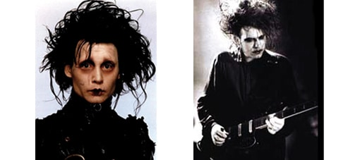 Sweeney Todd et les romantismes noirs - edouard aux mains d'argent (johny depp) & robert smith (the cure)