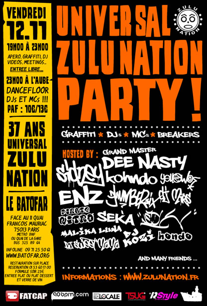 Universal zulu nation party 37 ans
