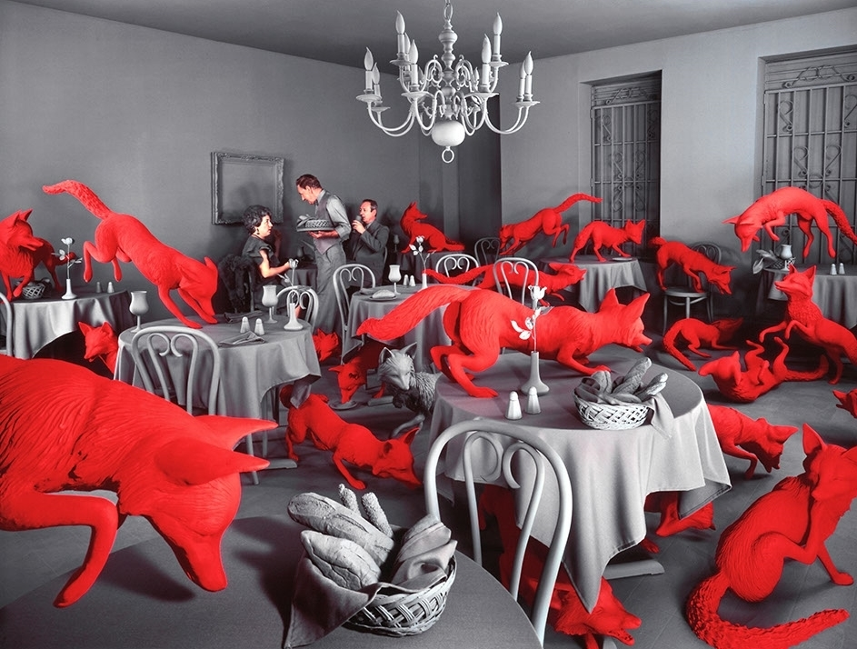 Sandy Skoglund - L'art du tableau photographique surréaliste - FOX GAMES, © 1989 Sandy Skoglund