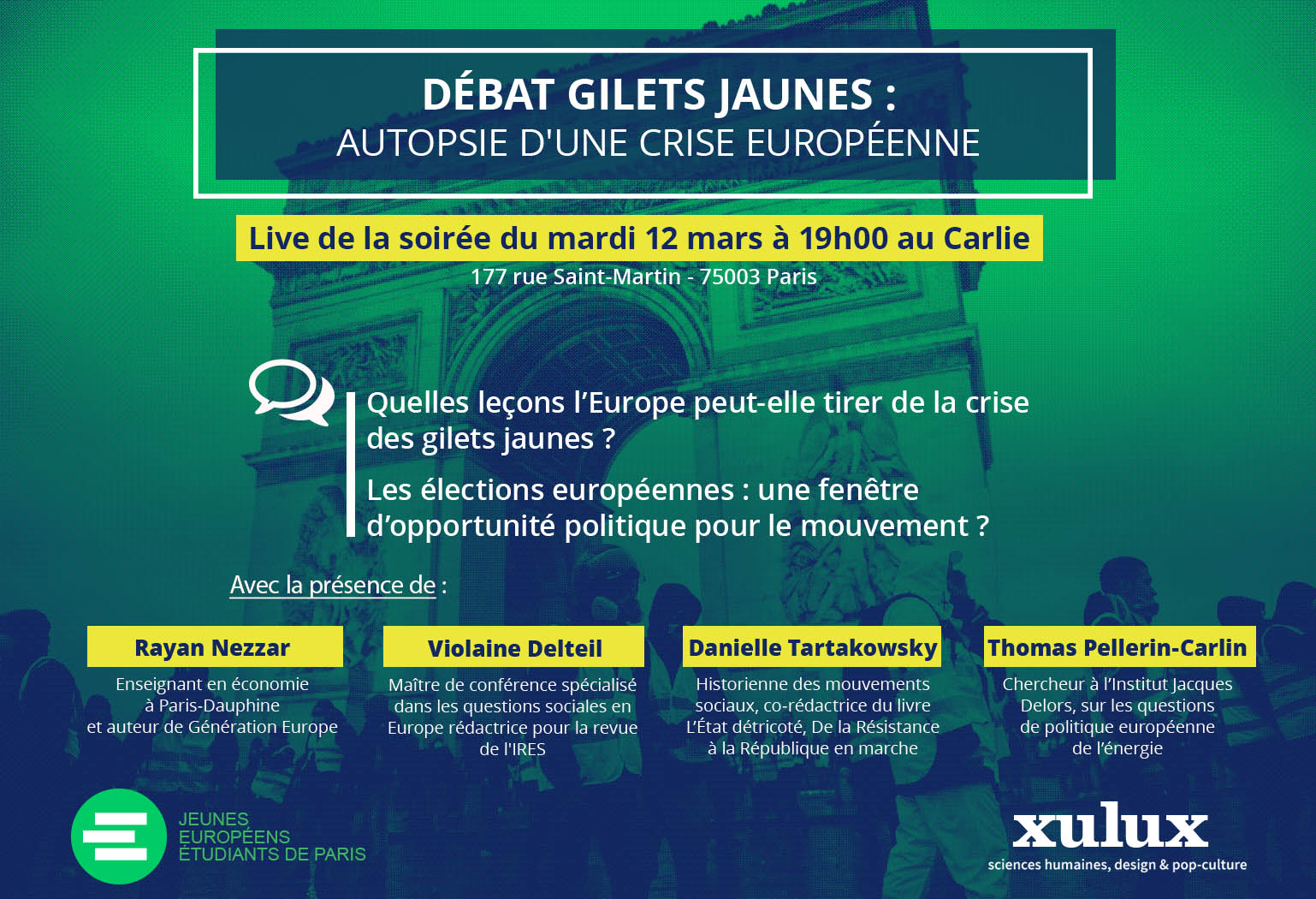 Quelles influences des Gilets Jaunes en Europe ? - groupe de gilets jaunes en france