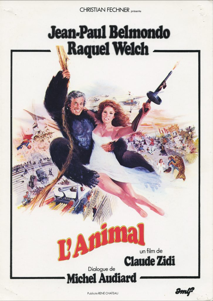 Affiche du film L'Animal de Claude Zidi - xulux article : Belmondo et la « culture du viol »